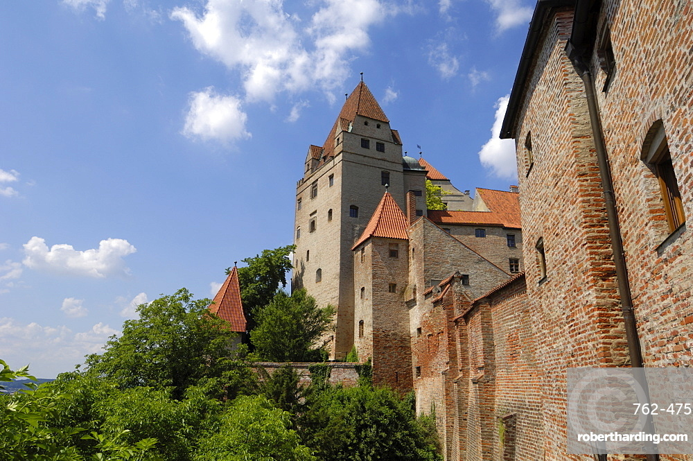 Castle Burg Trausnitz, Landshut, Bavaria, Germany, Europe