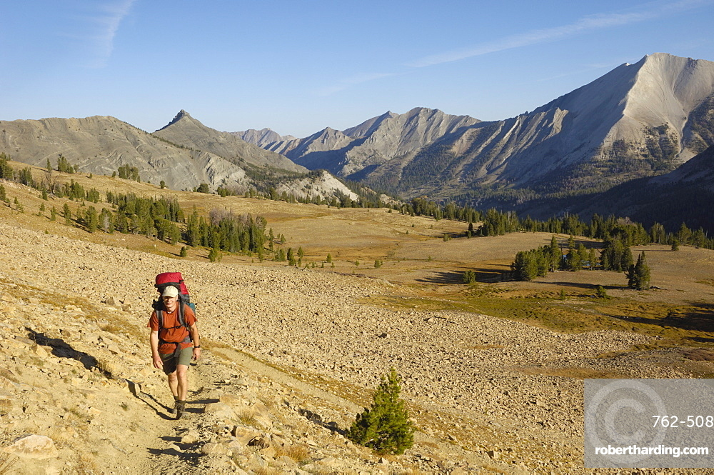 Hiking in the White Cloud Mountains, Rocky Mountains, Idaho, United States of America, North America