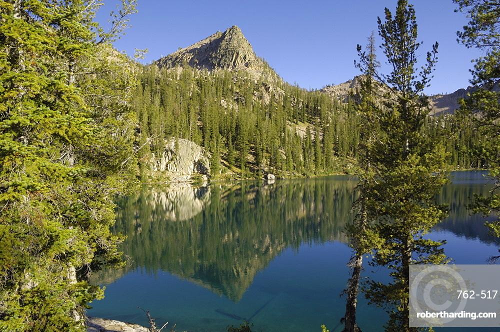 Baron Lake, Sawtooth Mountains, Sawtooth Wilderness, Sawtooth National Recreation Area, Rocky Mountains, Idaho, United States of America, North America