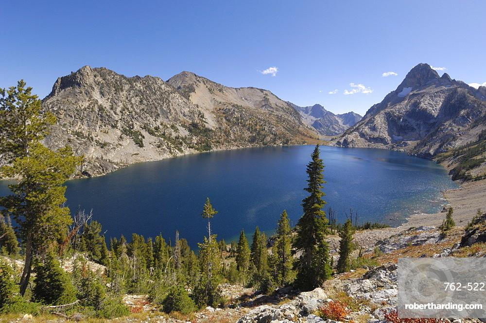 Sawtooth Lake, Sawtooth Mountains, Sawtooth Wilderness, Sawtooth National Recreation Area, Rocky Mountains, Idaho, United States of America, North America