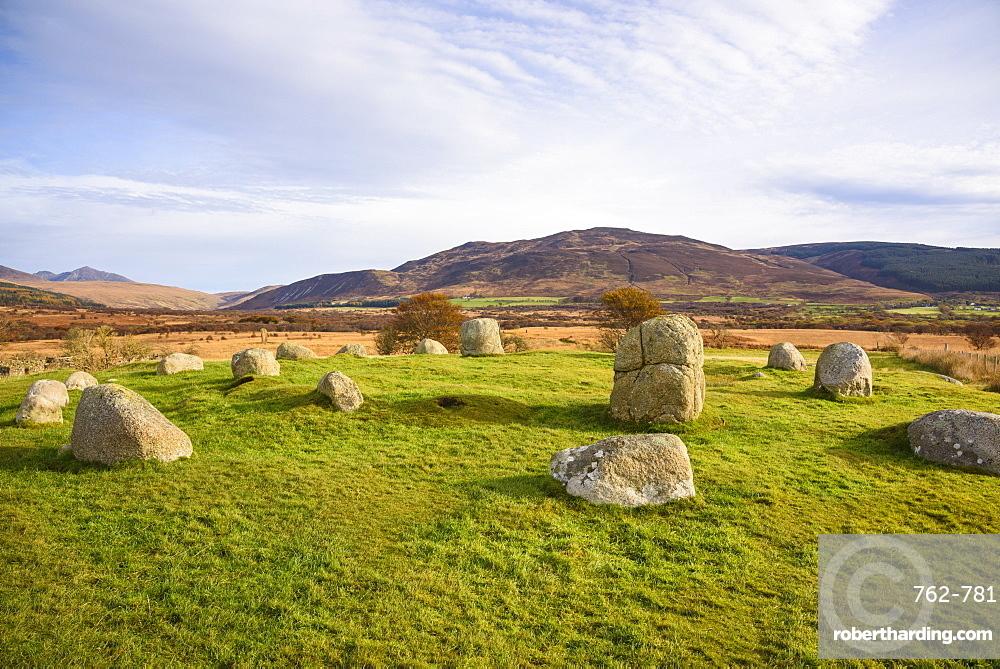 Fingals Cauldron, Machrie Moor stone circles, Isle of Arran, North Ayrshire, Scotland, United Kingdom, Europe