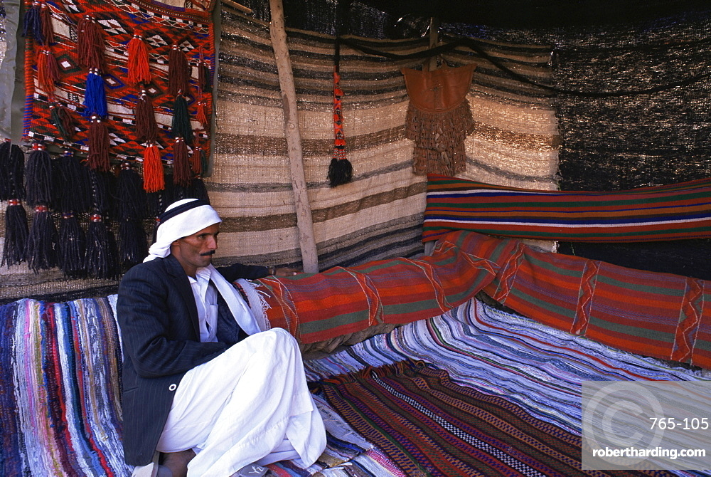 Interior of a Bedouin tent, Sinai, Egypt, North Africa, Africa