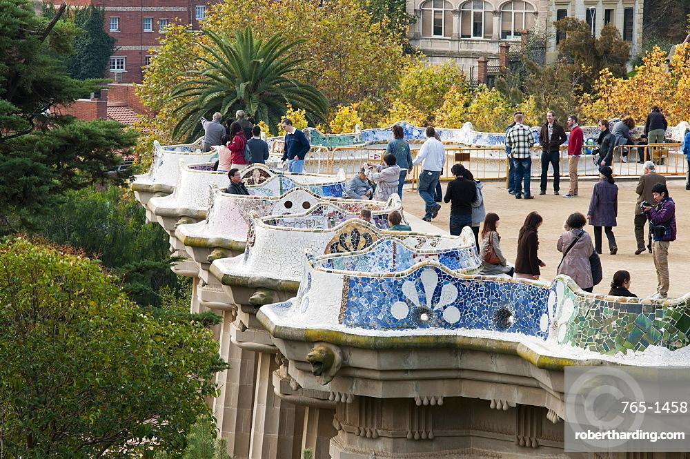 Guell Park (Parc Guell), Unesco World Heritage Site, Barcelona, Catalunya (Catalonia) (Cataluna), Spain, Europe