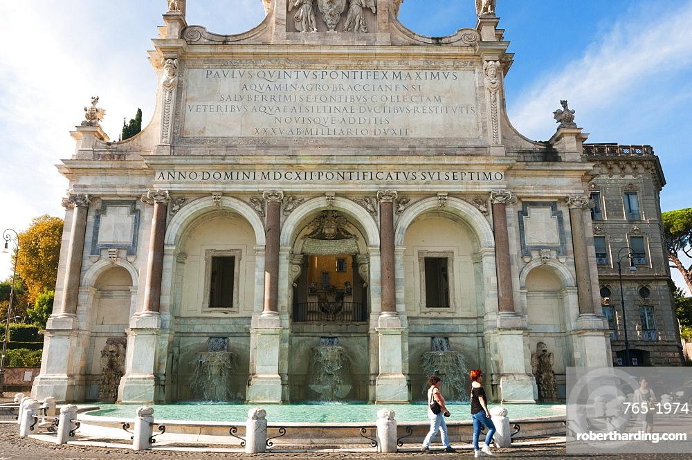 Fontana dell'Acqua Paola (Il Fontanone 1608), Janiculum Hill, Gianicolo, Rome, Lazio, Italy, Europe
