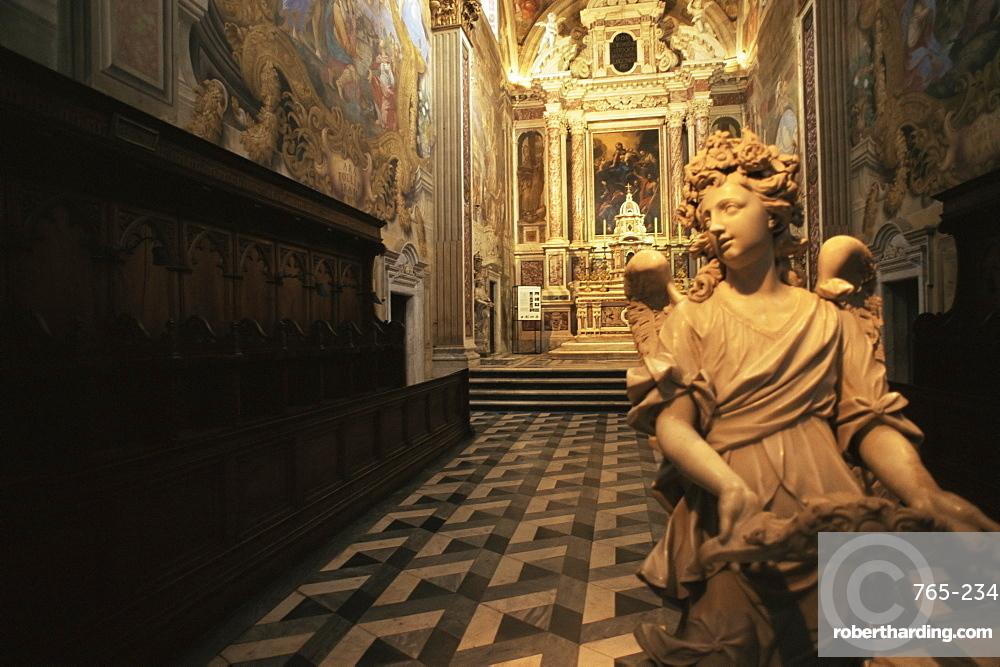 Interior of the Certosa, Calci, Pisa, Tuscany, Italy, Europe