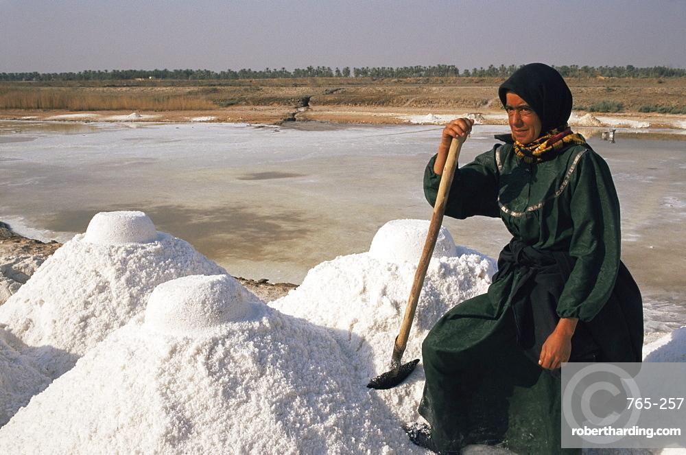 Salt pan, Nippur, Iraq, Middle East