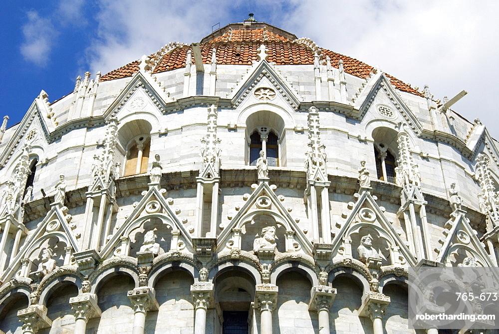 The Baptistry, Piazza dei Miracoli, UNESCO World Heritage Site, Pisa, Tuscany, Italy, Europe