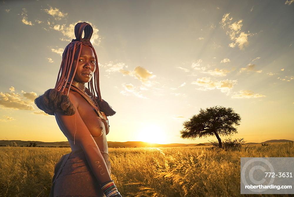 Himba woman, Kaokoland, Namibia, Africa