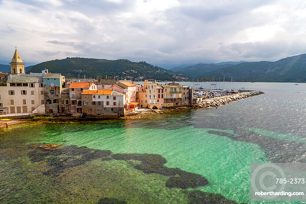 The small town of Saint Florent in northern Corsica