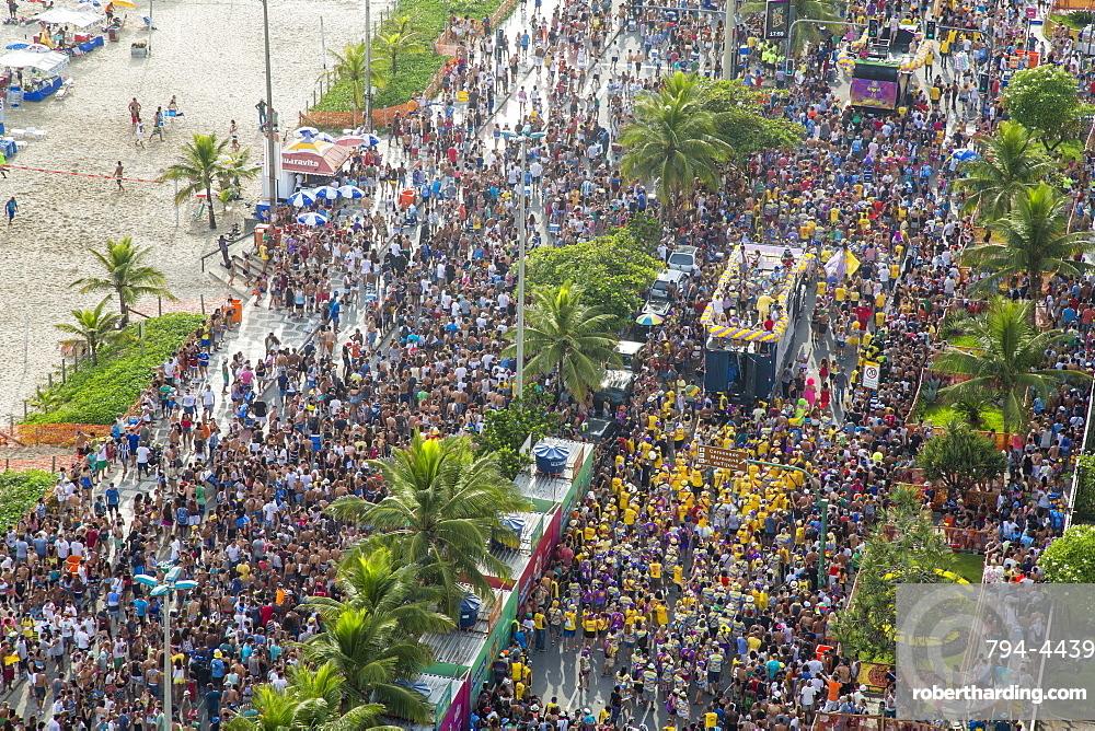 Ipanema Beach, Street carnival, Rio de Janeiro, Brazil, South America