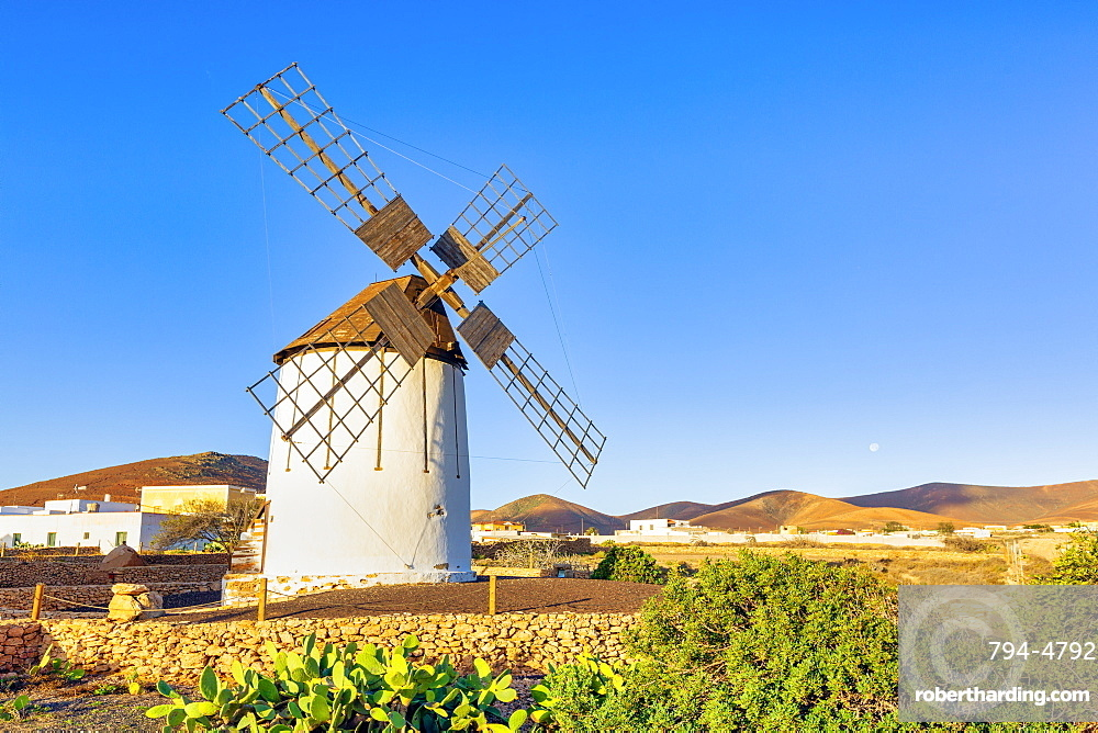 Spain, Canary Islands, Fuerteventura, Tiscamanita, traditional windmill