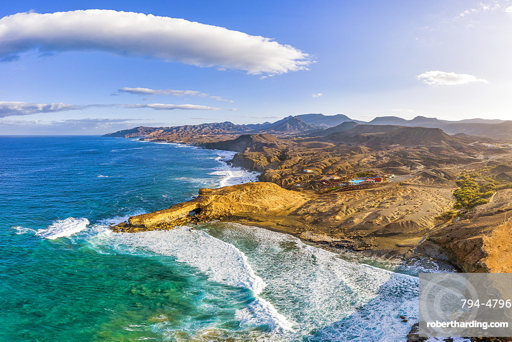 Spain, Canary Islands, Fuerteventura, La Pared and Playa Pared