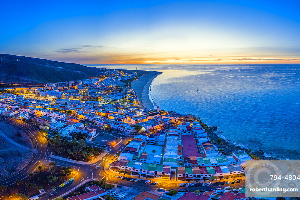 Spain, Canary Islands, Fuerteventura, Morro Jable and Playa del Matorral