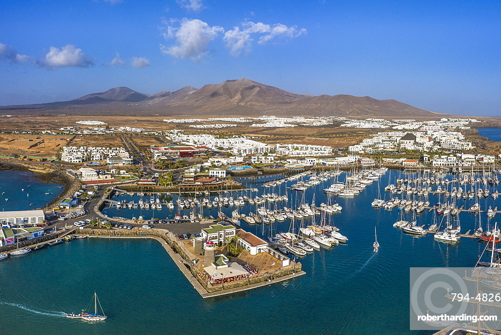 Spain, Canary Islands, Lanzarote, Marina Rubicon, Playa Blanca