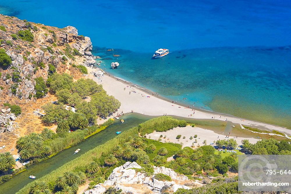Preveli beach, Retymno, Crete Island, Greek Islands, Greece, Europe