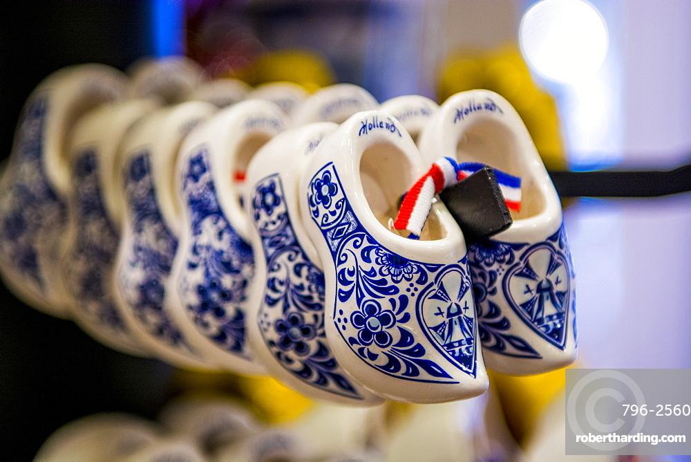 Delft delftware porcelain clogs, Edam, North Holland, Netherlands, Europe