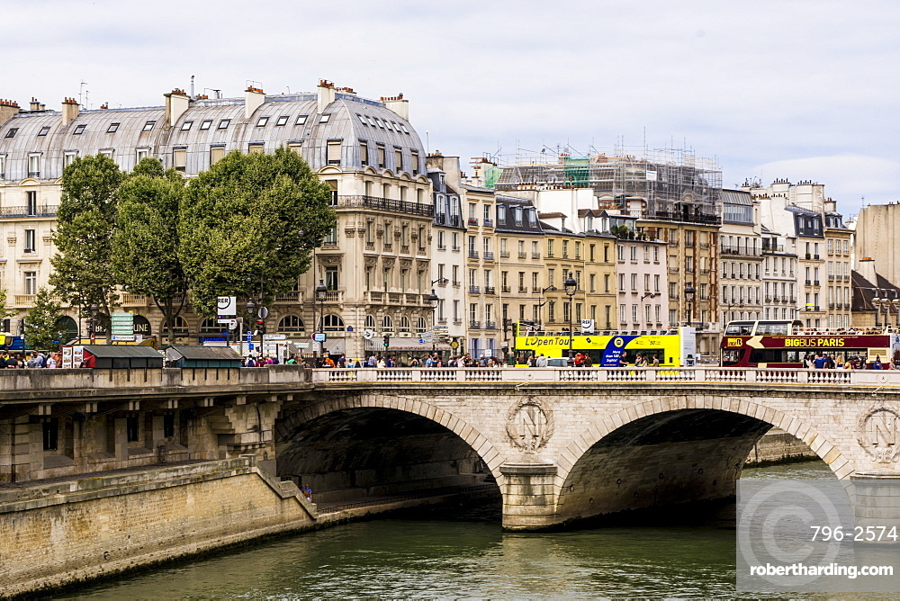 The Pont au Change bridge over Seine River, Paris, France, Europe