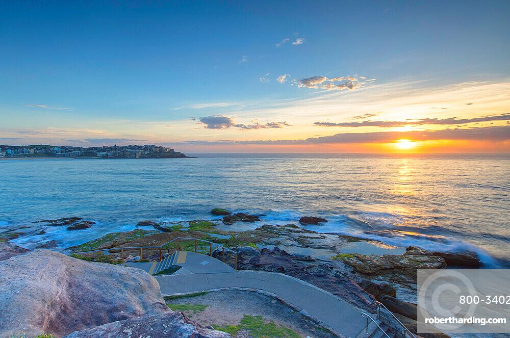 Bondi to Bronte walk at dawn, Bondi Beach, Sydney, New South Wales, Australia, Pacific