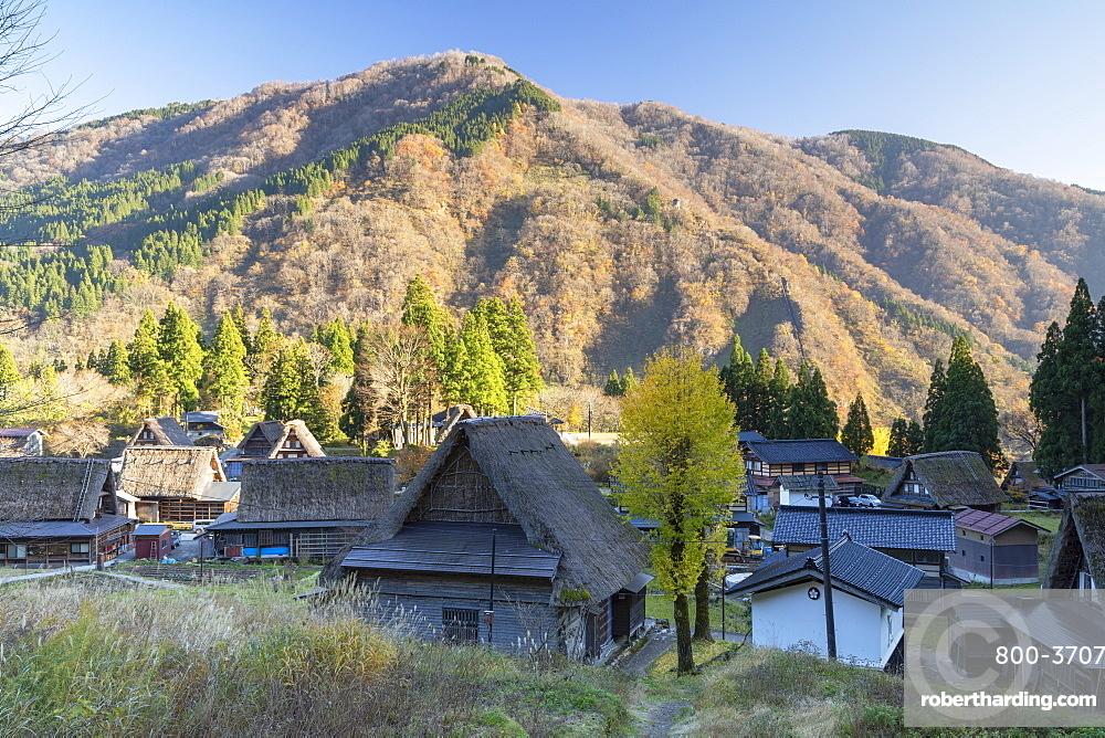 Traditional houses of Ainokura (UNESCO World Heritage Site), Gokayama, Toyama Prefecture, Japan