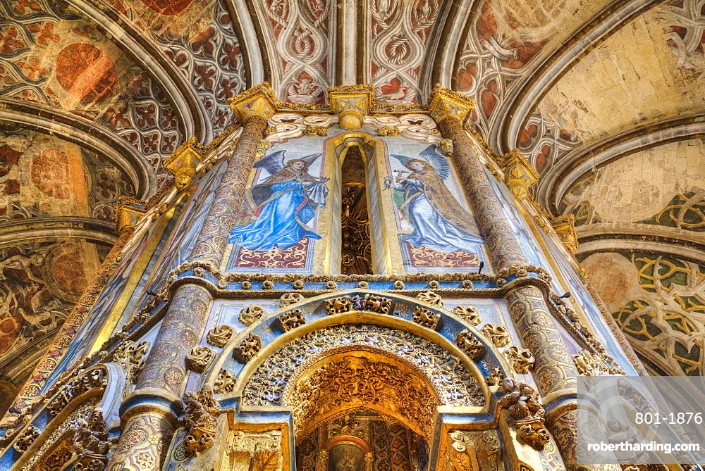 The Charola, Convent of Christ (Convento de Cristo), UNESCO World Heritage Site, Tomar, Santarem District, Portugal, Europe