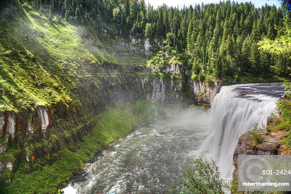 Upper Mesa Falls, near Island Park, Idaho, United States of America, North America