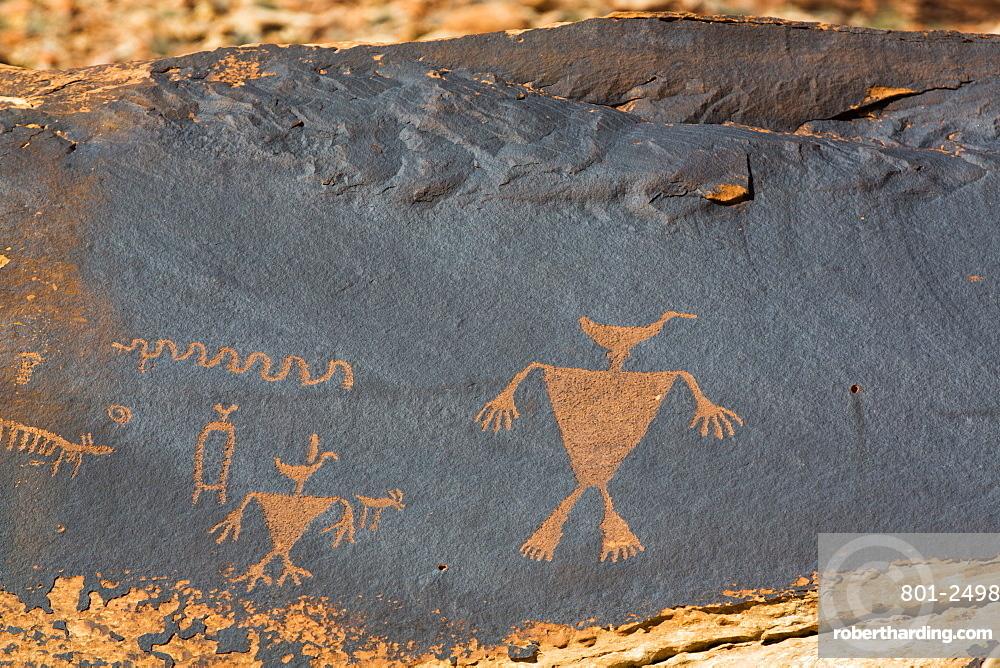 Duckhead Man Petroglyph, Bears Ears National Monument, Utah, United States of America, North America