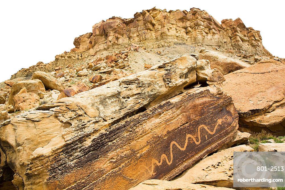 The Snake Petroglyph Panel, San Rafael Swell, Utah, USA