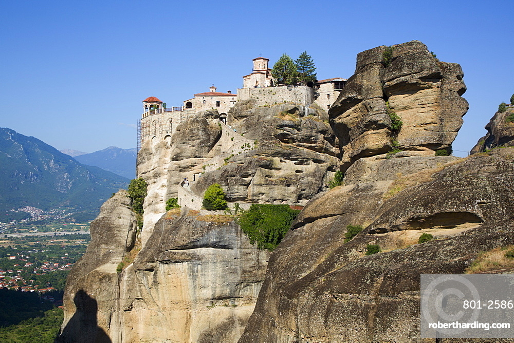 Holy Monastery of Varlaam, Meteora, UNESCO World Heritage Site, Thessaly, Greece, Europe