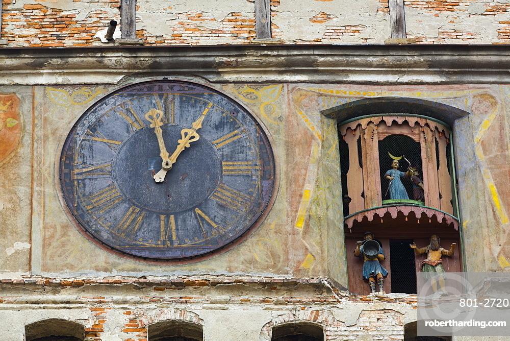Clock Tower, Sighisoara, UNESCO World Heritage Site, Mures County, Transylvania Region, Romania