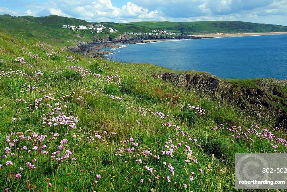 Woolacombe Bay from Morte Point, North Devon, England, United Kingdom, Europe