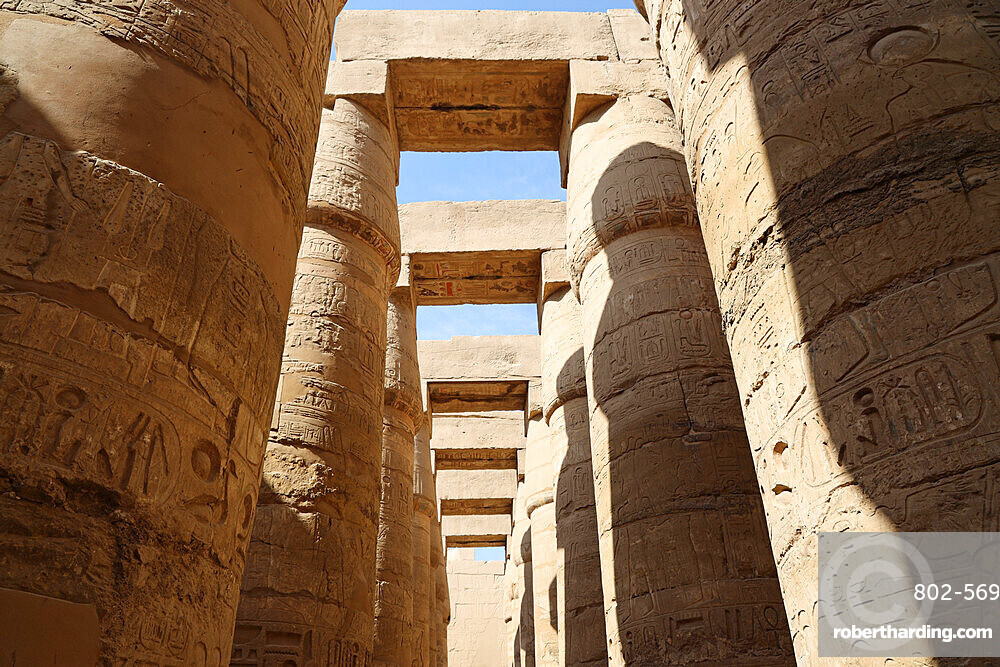 Great Hypostyle Hall, Karnak Temple, UNESCO World Heritage Site, near Luxor, Thebes, Egypt, North Africa, Africa
