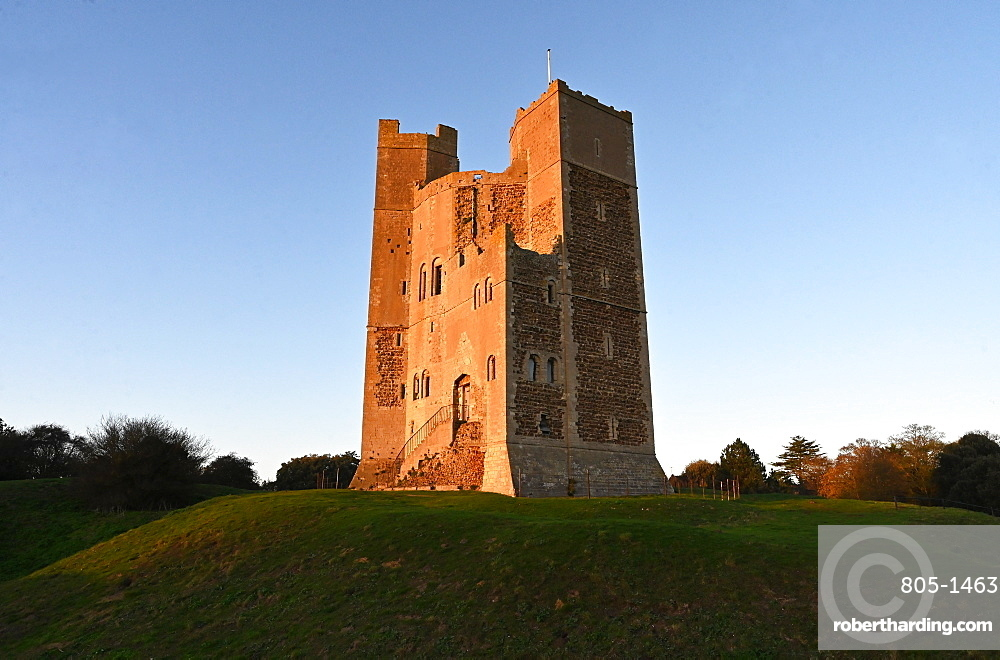Orford Castle, built by King Henry II between 1165 and 1173 to consolidate royal power in the region, Suffolk, England, United Kingdom, Europe