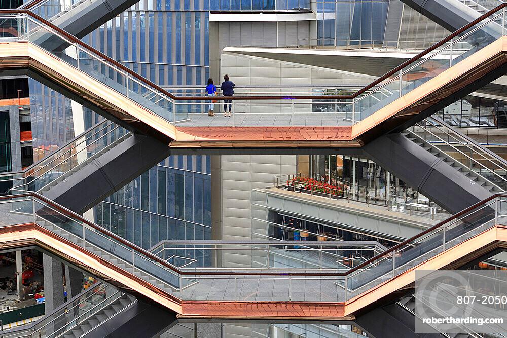 Interior, The Vessel, Staircase, Hudson Yards, Manhattan, New York City, New York, USA