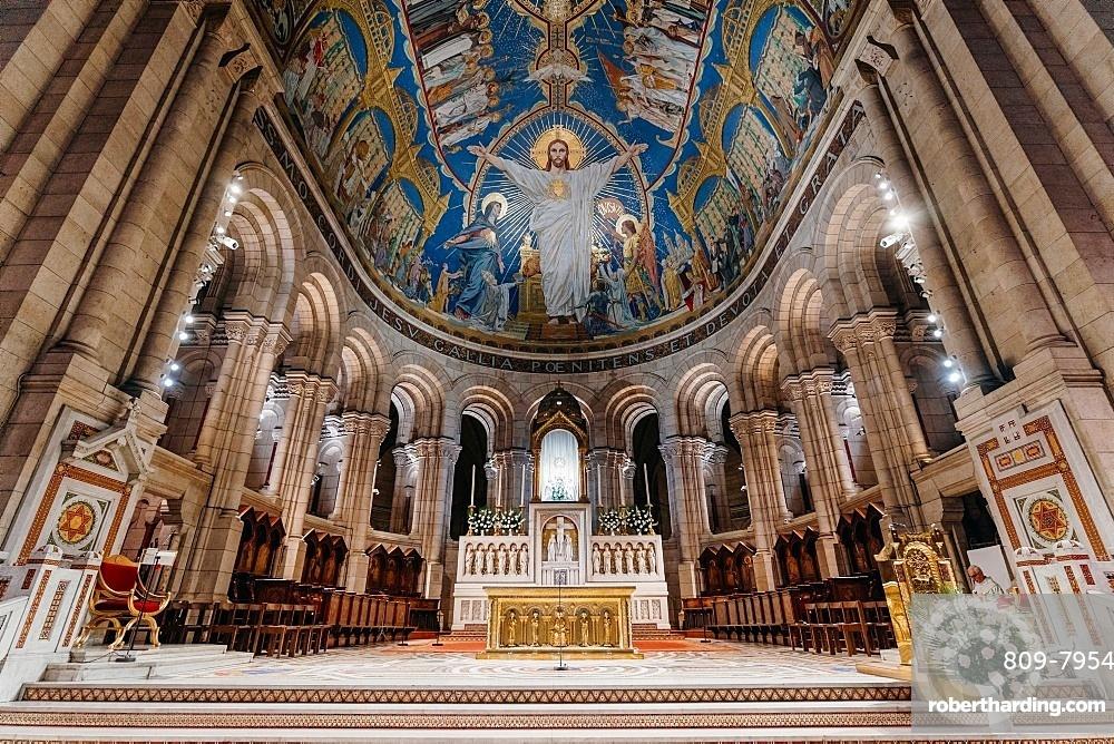 Sacred Heart Basilica, Paris, France, Europe