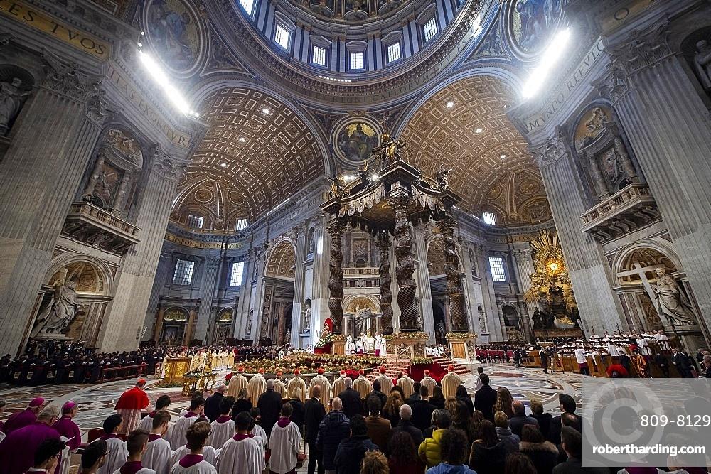 Pope Francis celebrates Epiphany Holy Mass in Saint Peter's Basilica, Vatican, Rome, Lazio, Italy, Europe