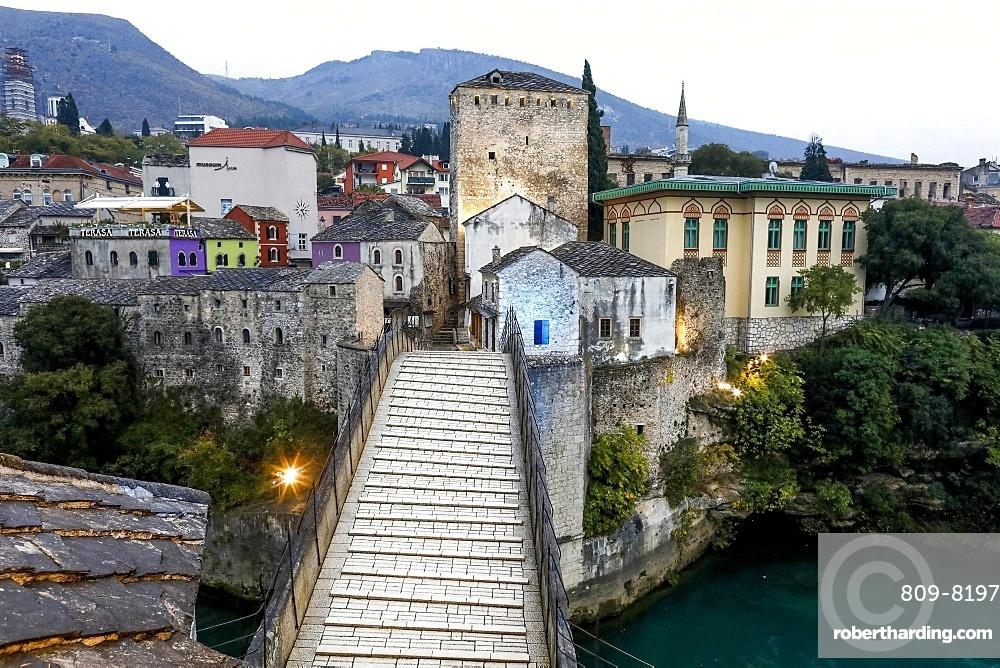 Mostar Bridge, UNESCO World Heritage Site, Mostar, Herzegovina, Bosnia and Herzegovina, Europe