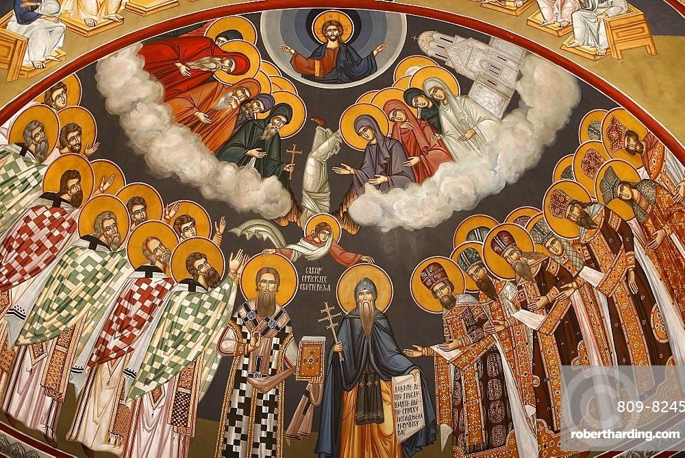 Dome fresco, Saint Sava church, Beograd, Serbia