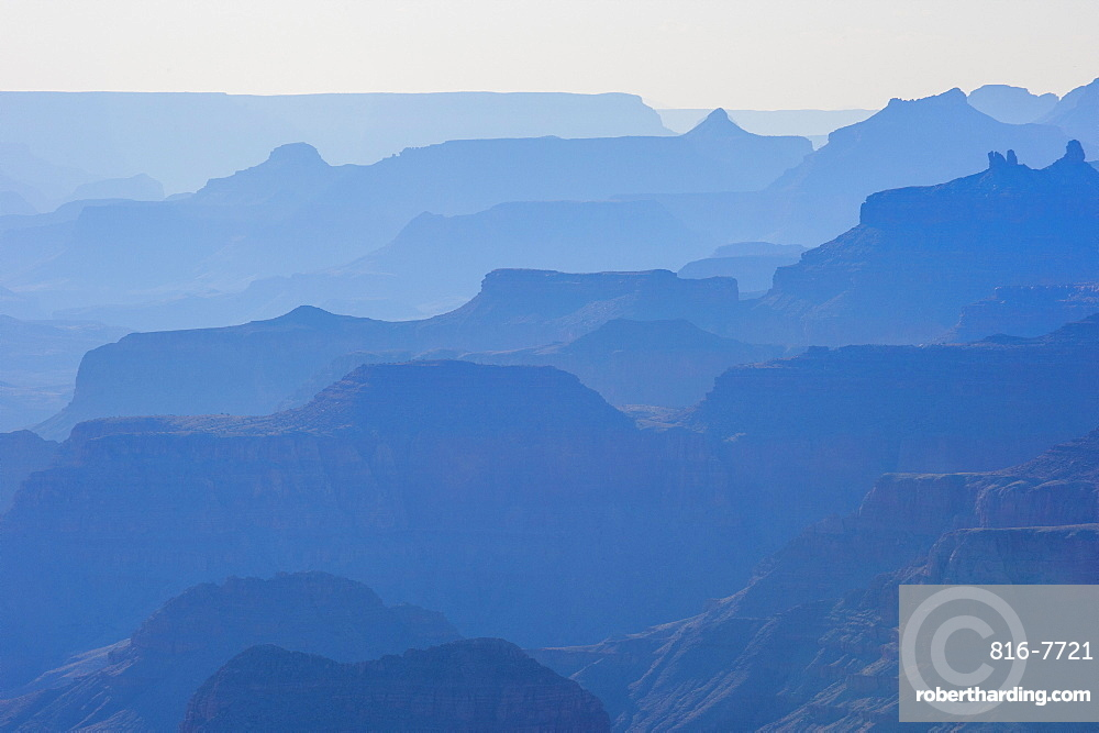 Backlight of the cliffs of the Grand Canyon, UNESCO World Heritage Site, Arizona, United States of America, North America