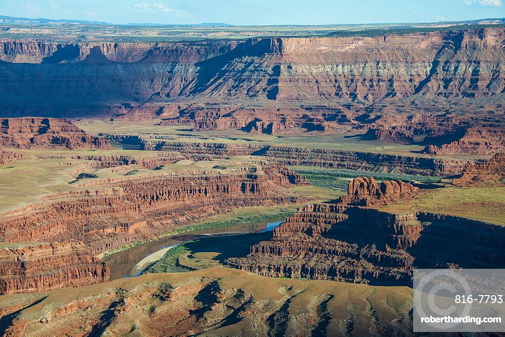 View over the canyonlands and the Colorado River from the Dead Horse State Park, Utah, United States of America, North America