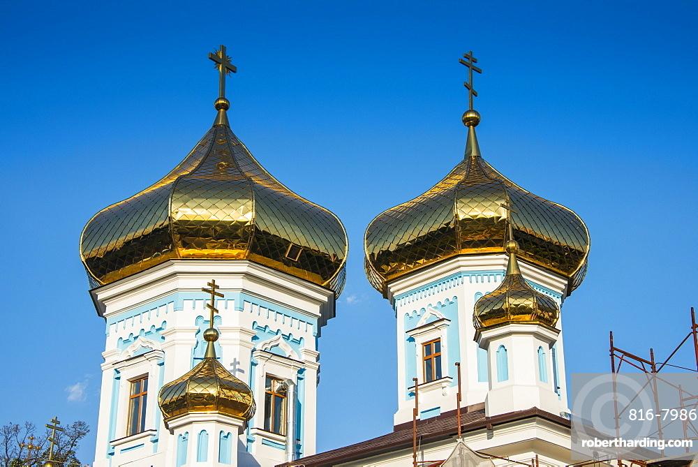 Ciuflea monastery in the center of Chisinau capital of Moldova, Eastern Europe