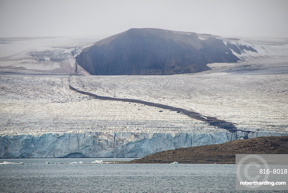 Huge glacier in Bjornsund, Svalbard, Arctic