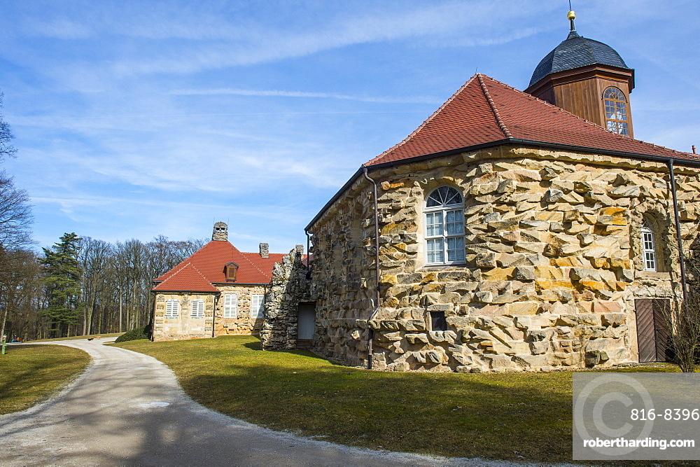 Old castle in the historical park Eremitage, Bayreuth, Upper Franconia, Bavaria, Germany, Europe