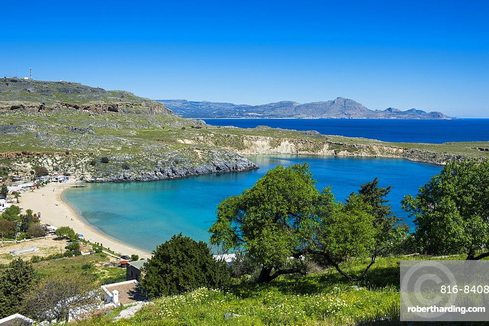 Pallas beach in Lindos, Rhodes, Dodecanese Islands, Greek Islands, Greece, Europe