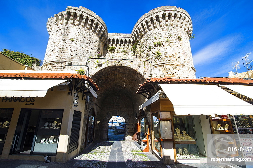The Medieval Old Town, UNESCO World Heritage Site, City of Rhodes, Rhodes, Dodecanese Islands, Greek Islands, Greece, Europe