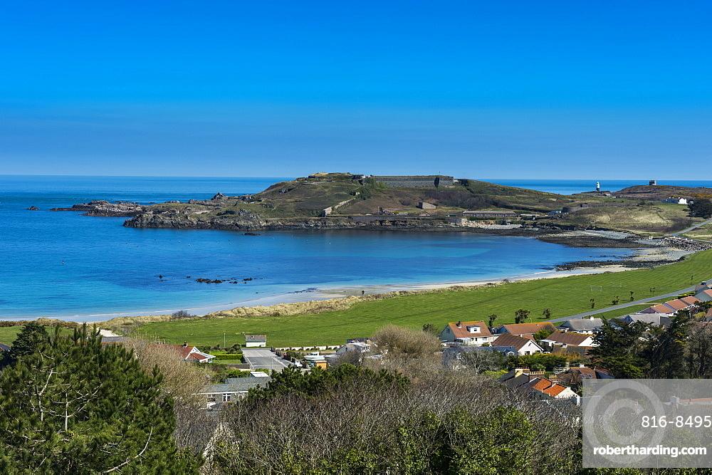 View over Alderney, Channel Islands, United Kingdom, Europe