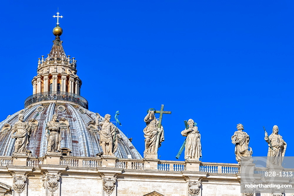 St. Peter's Basilica, UNESCO World Heritage Site, The Vatican, Rome, Lazio, Italy, Europe