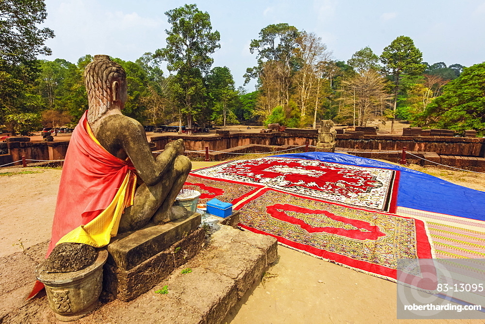 Yama, Hindu God of Death, Terrace of the Leper King, Royal Square of the Angkor Thom walled city, Angkor, UNESCO World Heritage Site, Siem Reap, Cambodia, Indochina, Southeast Asia, Asia