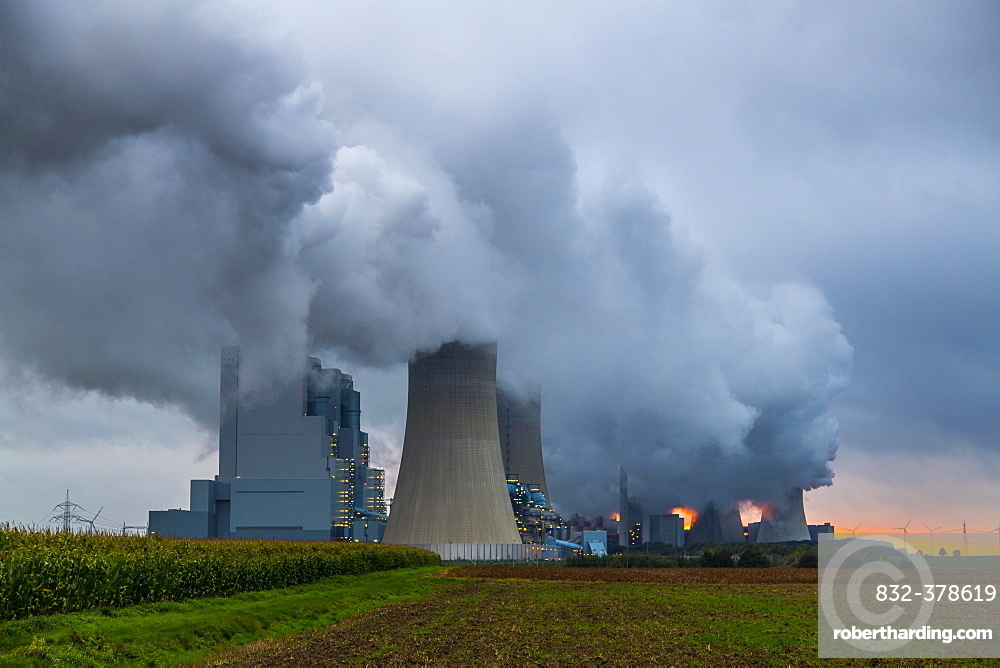 Power plant blocks F and G, brown coal power plant Neurath, RWE Power AG, Grevenbroich-Neurath, North Rhine-Westphalia, Germany, Europe