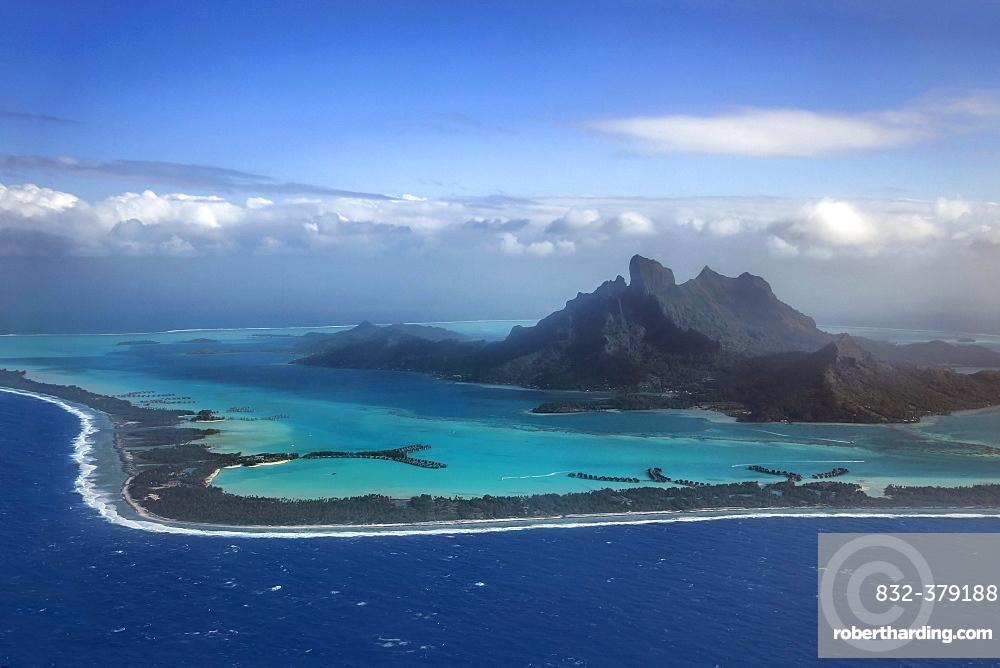 Aerial View Bora Bora Bora Stock Photo