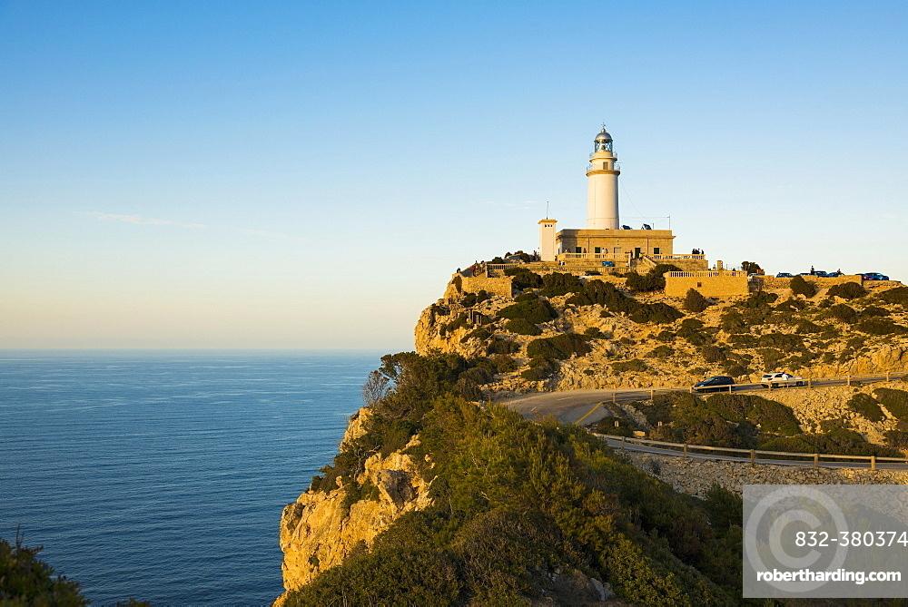 Lighthouse, Cap Formentor, Port de Pollença, Serra de Tramuntana, Majorca, Balearics, Spain, Europe